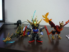 Strike Liu Bei Gumdam and sacred treasures (Curryramen) Tags: sd gumpla