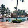 Poolside (MellySparkles) Tags: blue trees pool palm vietnam diana da waters nang