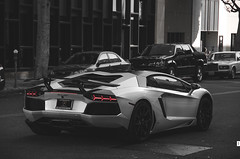 Avy (McManF1) Tags: california blackandwhite bw four seasons rich hills beverly expensive lamborghini luxury supercar v12 selectivecoloring hypercar aventador lp700 carspottingbeverlyhills angularass