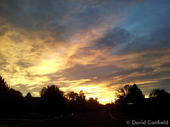 October 16, 2014 - A great looking sunset.  (David Canfield)
