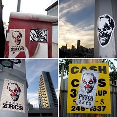 NYC (PSYCO ZRCS 10/12) Tags: street nyc art sticker stickerart stickers psyco bombing 2014 stickerporn