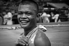 Clotey (shalomaker) Tags: white black smile boxer filipino