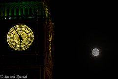 By the light of the Supermoon DSCF0531.jpg (Sav's Photo Gallery) Tags: savash supermoon moon lunar bigben clock clocktower time