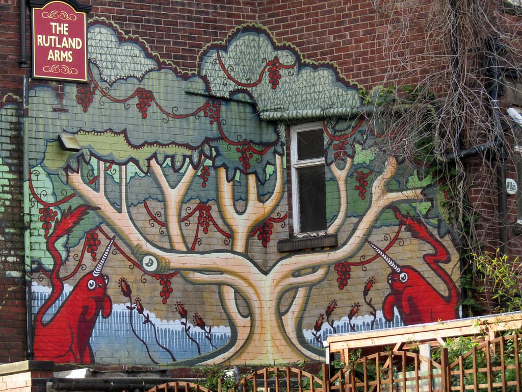 Phlegm mural at the rutland arms dave johnson tags phlegm mural art streetart graffiti · gopr1665 businessofferrets tags sheffield