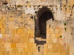 Tarragona (Frankie Brennan) Tags: tarragona spain romans amphitheatre old ancient olympus omd em5 bricks walls ruins doorway yellow