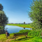 Bench along the Kromme Rijn at Cothen, Netherlands - 4512 thumbnail