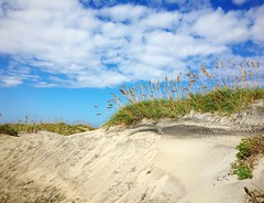 dunes (ekelly80) Tags: northcarolina outerbanks obx nagshead camping oregoninlet september2016 sand dunes beach ocean atlanticocean hills grass sky campsite campground view