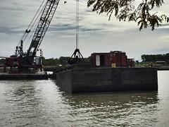 Dredging (prodefenserm) Tags: water boat ohio erie lake harbor huron dredging