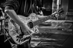 graffiti guitar (Daz Smith) Tags: dazsmith canon6d bw blackwhite blackandwhite bath city streetphotography people candid canon portrait citylife thecity urban streets uk monochrome blancoynegro mono busker performer music musician playin guitar graffiti cstomised