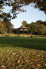 Autumn afternoon, Hall Park (UncleBucko) Tags: horsforth leeds yorkshire bandstand