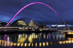 4217695q (annmcphoto) Tags: iconic landmarks turn pink support breast cancer campaign britain 22 oct 2014 gateshead millennium bridge joins across uk turning campaigns vital research ahead wear it day friday 24th october newcastle upon tyne tyneside river england united kingdom british great arch arched quayside awareness lighting illuminated night notpersonality 25586917