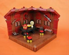 Cowboy's Room (gid617) Tags: lego cowboys interior dark red brown floor roof