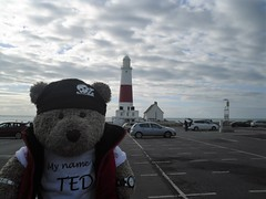 Me an' Portland Bill (pefkosmad) Tags: tedricstudmuffin teddy bear ted cute soft toy stuffed travel cuddly plush holiday vacation vacances holibobs piddletrenthide dorset cottage selfcatering england uk weymouth portlandbill lighthouse chesilbeach tourist tourism creamtea beach town pebbles jurassiccoast