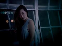 10.09.16 (laujonat_) Tags: girl dark person portrait blue green shadows mysterious darkness mystique unique frontal photoshoot studio