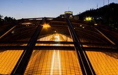 the light (Shan'Gai Photography) Tags: cars bridge light longexposition warm santiago chile