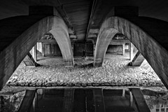 Concrete concrete (Per sterlund) Tags: stockholm sweden bnw blackandwhite street water walking human 2016 bridge monochrome concrete