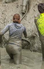 sheer mud attack (stevefge) Tags: berendonck strongviking viking mud girls event sport obstacles endurance fun people candid nederland netherlands nederlandvandaag reflectyourworld climb steep slope rope