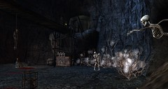 Avilion Loch - The haunted mines (Osiris LeShelle) Tags: secondlife second life avilion loch medieval fantasy roleplay mines haunted halloween spooky stuff dark skeleton scary