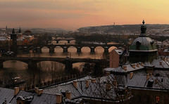 Frozen sunset over Prag... (Alex Switzerland) Tags: landscape prag praha praga paesaggio cechia tramonto sunset canon eos 6d