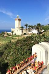 Cap Spartel (jeremyvillasis) Tags: travel morocco tangier tanger tanja maroc capespartel capspartel sea lighthouse africa straitofgibraltar northafrica camel souvenir merchandise commerce blue sky