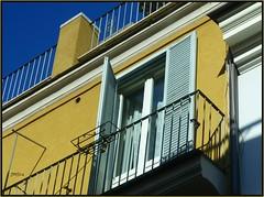 Balcony window Rome (jeansmachines24) Tags: rome verandah blue gold apartment