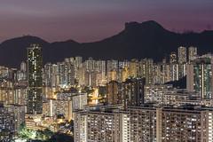 Hong Kong ([~Bryan~]) Tags: hongkong lionrock mountain cityscape cityurbanlandscape urban density building housing night lights