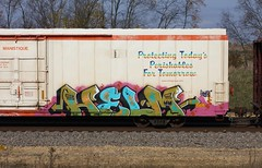 Helm (quiet-silence) Tags: graffiti graff freight fr8 train railroad railcar art helm wh stv cryx cryo cryotrans reefer cryx3442