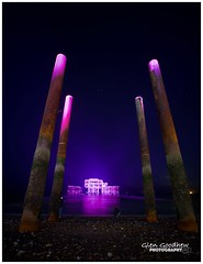 150th Anniversary of the West Pier (Nikon D750) Tags: longexposure lowlight prime 14mm f28 beach fx sigma d750 nikon 150th anniversary 150thanniversary sea city pier old eastsussex uk westpier brighton