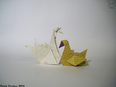 Collection of the bird base  Water Birds by Barth Dunkan (Magic Fingaz) Tags: barthdunkan bird burung chim oiseau origami origamibird pájaro pássaro ptak uccello vogel птица นก 鳥 鸟