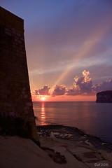 colors of a sundown (leaving-the-moon) Tags: 201609 cloud clouds colors farbe goodlight gozo himmel maltagozo sky sonnenuntergang sun sundown wolken xlendi xlendibay xlenditower