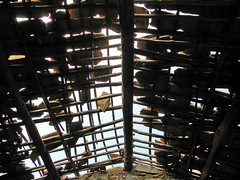 The falling apart roof of Kumbalgarh Fort in India (albatz) Tags: tiled fallingapart roof kumbalgarh fort india