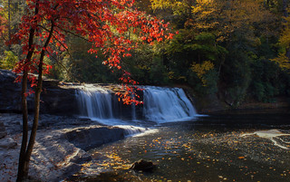 Fall at Hooker Falls