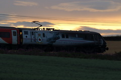 91110 (Rob390029) Tags: bbmf battle britain memorial flight class 91 electric loco locomotive vtec virgin trains east coast train transport travel transportation traveling ecml plawsworth mainline