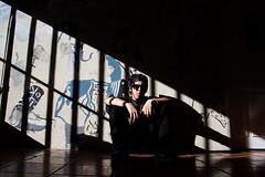 Stairway of light. (Sebastian Astorga) Tags: chico creativa desafiante dibujos esperando grafitis interpretativa pinturas retrato skater soledad urbana ventana guy creativity light urban street shadows