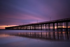 winter glow (Andy Kennelly) Tags: pier ventura beach glow sunset long exposure