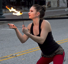 2016 Hollydazzle Newport News Virginia Medieval fire dance lady (watts_photos) Tags: 2016 hollydazzle newport news virginia fire dance lady 50 50mm performer performance event festival holiday eat eating fireeater people
