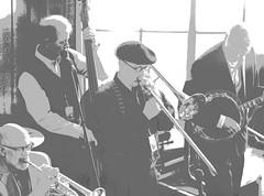 Jazz Band (Rick Bolin) Tags: rickbolin canonfd200mmf28ssc band jazz posterized bw highkey photo photos photography photographer