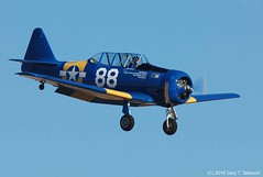 Reno Air Races 2016 - DSC_2859c (g_takeuchi) Tags: reno nationalchampionship airraces airshow stead airport rts nevada 2016 airrace race races airplane airplanes plane planes aircraft aeroplane aeroplanes renostead northamerican at6d snj5 texan radialvelocity 8816497 4284716 n3272g landing flying flight motorsports motorsport krts washoecounty aviation