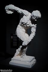 The Art Of The Brick (11) (Matteo Scardino) Tags: theartofthebrick tha art brick milano fabbricadelvapore museo lego mattoncini statua statue bianco white