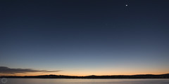 Sunset, Venus and the sickel Moon - Lake Macquarie (ssoross1) Tags: lakemacquarie speerspoint