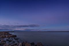 Harbour entrance (Prieni) Tags: mole molenfeuer warnemnde groyne harbourlight evening baltic