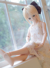 DSC_9513 (Nekoconeco) Tags: volks dd dollfie dream dollfiedream  fate unlimited codes saber lily saberlily   flower chiffon dress