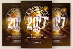 New Year 2017 Templates (Rome Creation) Tags: bash champagne chic classy party deluxe elegant fireworks glam gold happy holiday holidays invitation luxurious luxury modern new year years eve nye poster psd vip white xmas december invitations bundle package romecreation creative flyers christmas celebration 2017