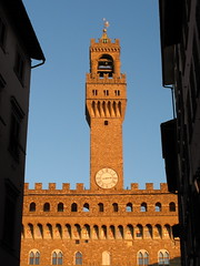 florence afternoon palazzo vecchio (kexi) Tags: florence firenze florencja italy europe toscany tuscany vertical palazzio palazzovecchio tower sky blue bricks red clock renaissance old ancient samsung wb690 october 2015 architecture hccity clocktower instantfave