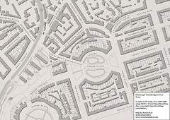 Edinburgh 2016, mapped in the style of early 1900s Ordnance Survey maps (stevefaeembra) Tags: map cartography openstreetmap qgis antique ordnance survey