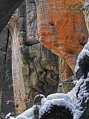 Teplicke skaly 4 (Vid Pogacnik) Tags: czechrepublic czechia teplice teplickeskaly teplicerocks sandstone sandstones rocks rocktowers rockformations naturalparc hiking outdoor landscape nature gorge climbing climbingarea winter