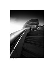 City hall (Charlie Pragnell) Tags: london londonarchitecture londoncity olympuseurope olympusomd olympusuk blackwhitefineart architecturalphotography architecture modernarchitecture cityhall wwwcharlespragnellphotographynet