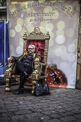 Her Majesty takes a nap (tootdood) Tags: canon70d streetcandid fromthehip candid stannssquare people sitting sit sat seated her majesty takes nap throne red velvet germanmarkets relaxed