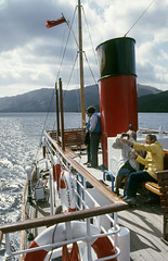 On board 'Countess Fiona' - top deck. Sep'84. (David Christie 14) Tags: countessfiona lochlomond