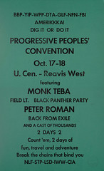 Progressive Peoples' Convention for Peter Roman, October 1970 (Regional History Center & NIU Archives) Tags: boycott demonstration protest niu northernillinoisuniversity students poster activism